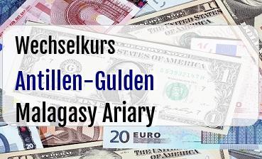 Antillen-Gulden in Malagasy Ariary