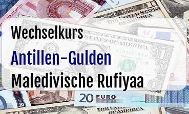 Antillen-Gulden in Maledivische Rufiyaa
