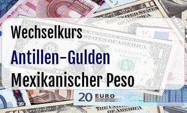 Antillen-Gulden in Mexikanischer Peso