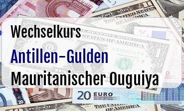 Antillen-Gulden in Mauritanischer Ouguiya