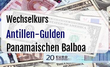 Antillen-Gulden in Panamaischen Balboa