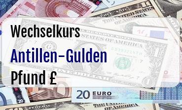 Antillen-Gulden in Britische Pfund