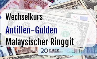 Antillen-Gulden in Malaysischer Ringgit