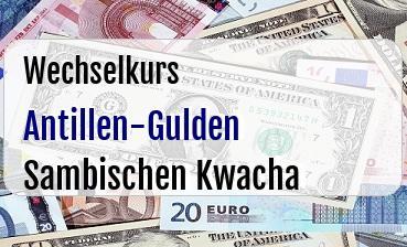 Antillen-Gulden in Sambischen Kwacha