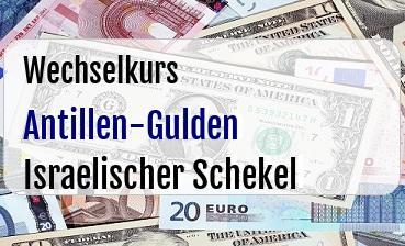 Antillen-Gulden in Israelischer Schekel