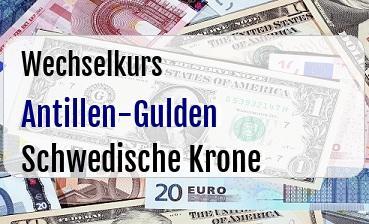 Antillen-Gulden in Schwedische Krone