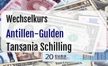 Antillen-Gulden in Tansania Schilling