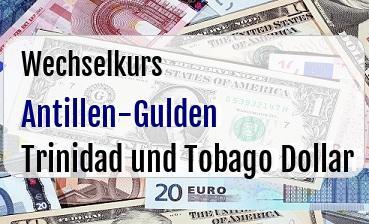 Antillen-Gulden in Trinidad und Tobago Dollar