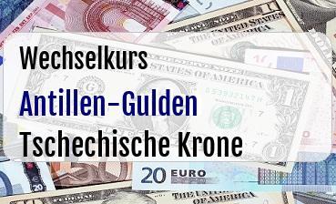 Antillen-Gulden in Tschechische Krone