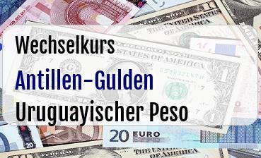 Antillen-Gulden in Uruguayischer Peso