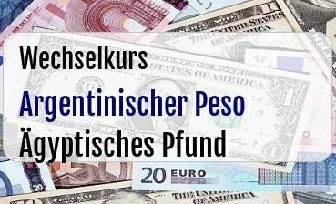 Argentinischer Peso in Ägyptisches Pfund