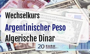 Argentinischer Peso in Algerische Dinar