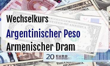 Argentinischer Peso in Armenischer Dram