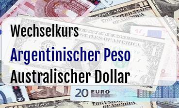 Argentinischer Peso in Australischer Dollar