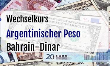 Argentinischer Peso in Bahrain-Dinar