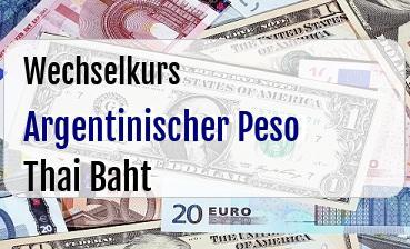 Argentinischer Peso in Thai Baht