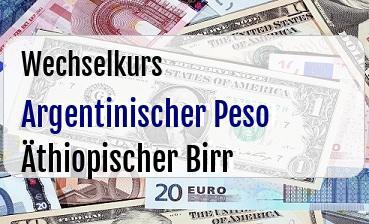 Argentinischer Peso in Äthiopischer Birr