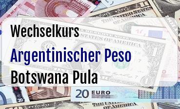 Argentinischer Peso in Botswana Pula