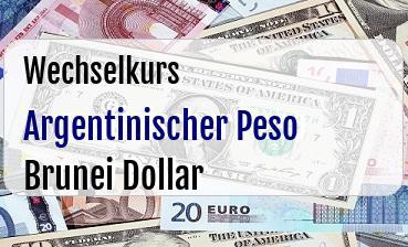 Argentinischer Peso in Brunei Dollar
