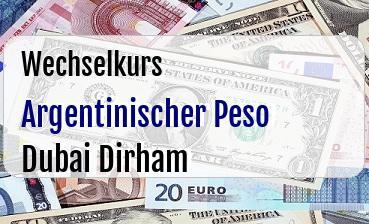 Argentinischer Peso in Dubai Dirham