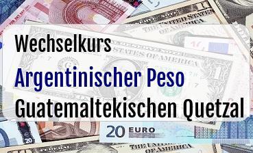 Argentinischer Peso in Guatemaltekischen Quetzal