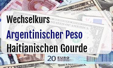 Argentinischer Peso in Haitianischen Gourde