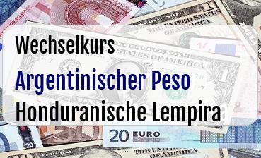 Argentinischer Peso in Honduranische Lempira