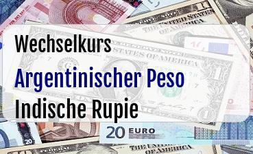Argentinischer Peso in Indische Rupie