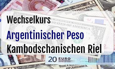 Argentinischer Peso in Kambodschanischen Riel