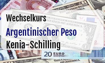 Argentinischer Peso in Kenia-Schilling