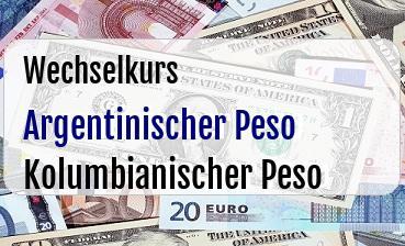 Argentinischer Peso in Kolumbianischer Peso