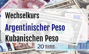 Argentinischer Peso in Kubanischen Peso