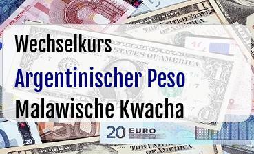 Argentinischer Peso in Malawische Kwacha