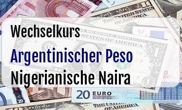 Argentinischer Peso in Nigerianische Naira