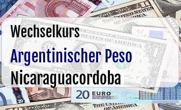 Argentinischer Peso in Nicaraguacordoba