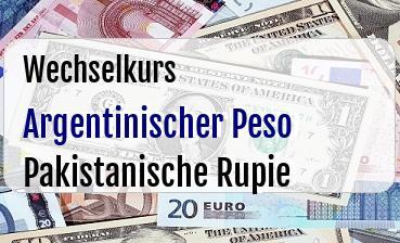 Argentinischer Peso in Pakistanische Rupie