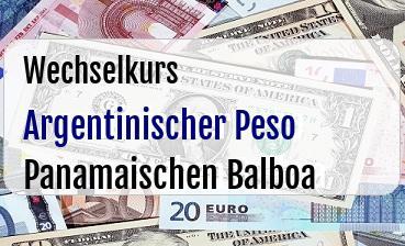 Argentinischer Peso in Panamaischen Balboa
