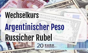 Argentinischer Peso in Russicher Rubel
