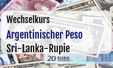 Argentinischer Peso in Sri-Lanka-Rupie