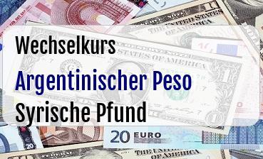 Argentinischer Peso in Syrische Pfund