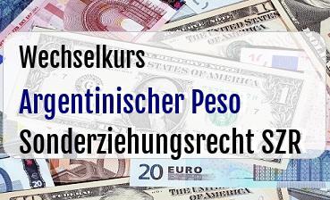 Argentinischer Peso in Sonderziehungsrecht SZR
