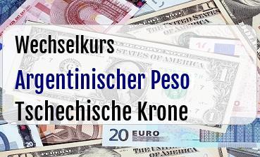 Argentinischer Peso in Tschechische Krone