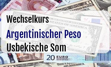 Argentinischer Peso in Usbekische Som