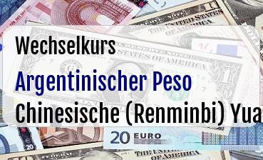 Argentinischer Peso in Chinesische (Renminbi) Yuan