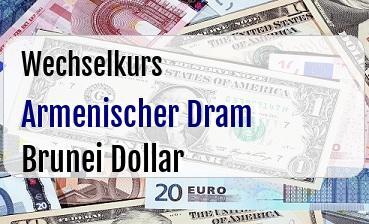 Armenischer Dram in Brunei Dollar