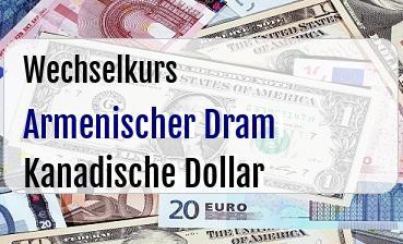 Armenischer Dram in Kanadische Dollar