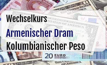 Armenischer Dram in Kolumbianischer Peso