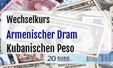 Armenischer Dram in Kubanischen Peso