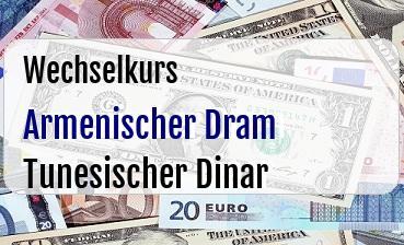 Armenischer Dram in Tunesischer Dinar