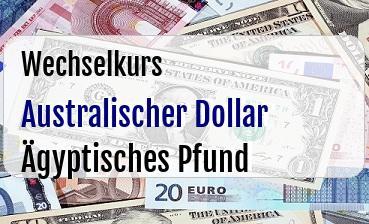 Australischer Dollar in Ägyptisches Pfund